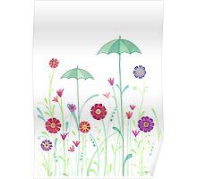 umbrella garden Poster