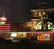 The Strand Theatre at night, light up. by Marilyn Baldey