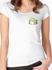 Shaymin on Pocket ! Women's Fitted Scoop T-Shirt