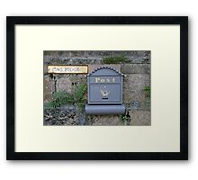 Postbox  at Pine Ridge  Framed Print