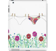 laundry line flowers iPad Case/Skin