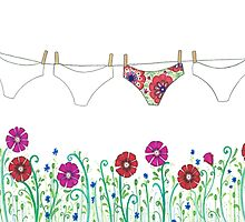 laundry line flowers by laneykate