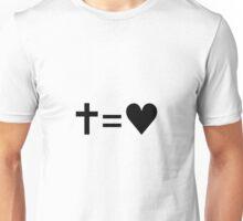 Cross Equals Heart Unisex T-Shirt