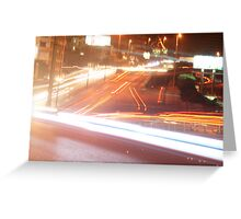 Evening Rush Greeting Card