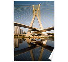 Estaiada Bridge - Sao Paulo Poster