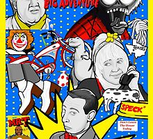 Pee Wee's big adventure 30th anniversary tribute art by gjnilespop