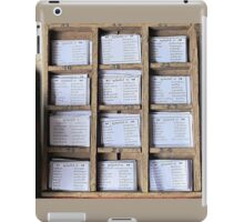 Prayer Cards  iPad Case/Skin