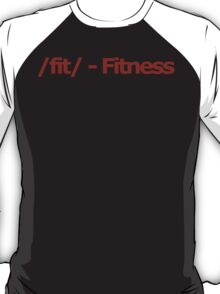 /fit/ - Fitness 4chan Logo T-Shirt