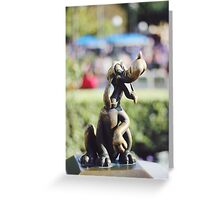 Pluto Statue  Greeting Card