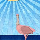 Roseate Spoonbill by Janet Carlson
