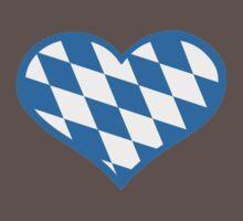 Bavaria flag heart One Piece - Short Sleeve