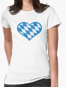 Bavaria flag heart Womens Fitted T-Shirt