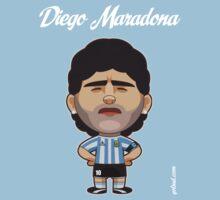 Diego Armando Maradona by alexsantalo