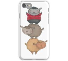 three cute sheep iPhone Case/Skin