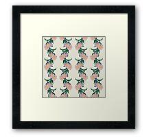 Retro Flowers and Vines Framed Print