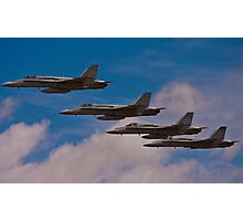 Super Hornet in Formation Photographic Print