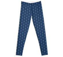 Blue Martinis Pattern Leggings