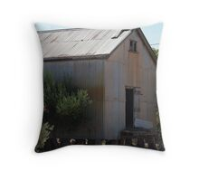 old rundown shed Throw Pillow