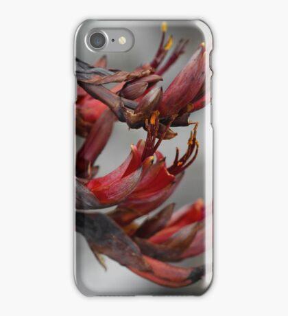 New Zealand Native Flax Flower iPhone Case/Skin