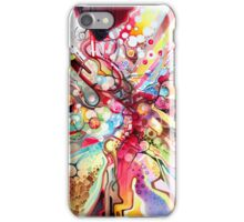 Time-Lapse Geometry Battle - Watercolor Painting iPhone Case/Skin