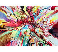 Time-Lapse Geometry Battle - Watercolor Painting Photographic Print