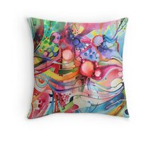 Nice Clowns You Got There - Watercolor Painting Throw Pillow