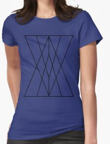 Triangles-Black Womens Fitted T-Shirt