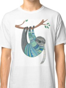 Smiley sloth wearing sweater Classic T-Shirt