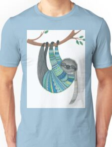 Smiley sloth wearing sweater Unisex T-Shirt