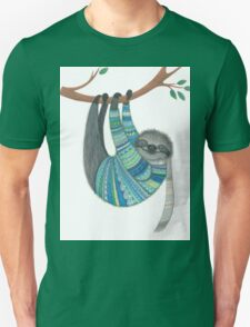 Smiley sloth wearing sweater T-Shirt