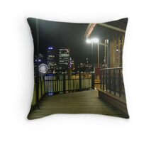 Mends Street Jetty & Perth Skyline In Background. South Perth. Throw Pillow