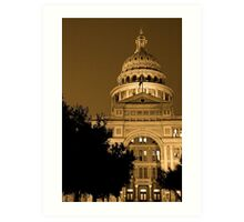 Texas State Capitol Building Art Print