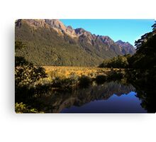 Mirror Lake, New Zealand Canvas Print
