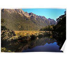 Mirror Lake, New Zealand Poster