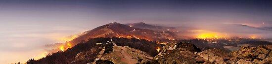 Night Over Malvern Hills by Jan  Sedlacek