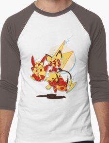 Rai Flash, Pika Flash and Impichu Men's Baseball ¾ T-Shirt