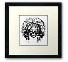 Vintage Chief Skull Design Framed Print