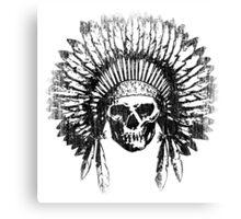 Vintage Chief Skull Design Canvas Print