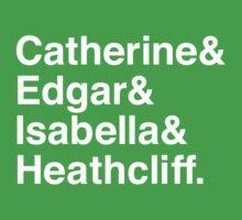 Catherine & Edgar & Isabella & Heathcliff One Piece - Short Sleeve