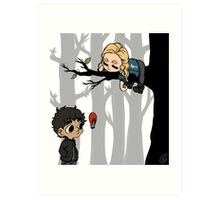 Clarke Griffin Leads Her People From A Tree Art Print