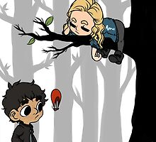 Clarke Griffin Leads Her People From A Tree by TheKeyThief