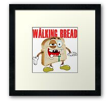 The Walking Bread Framed Print