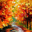 Gold Expanse — Buy Now Link - www.etsy.com/listing/125597124 by Leonid  Afremov