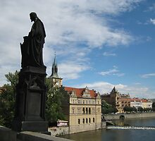 Vlatava river in Praha, Czech Republic by Kadava