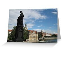 Vlatava river in Praha, Czech Republic Greeting Card