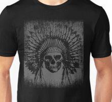 Vintage Native Skull Design Unisex T-Shirt