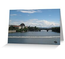 Vltava river in  Praha, Czech Republic Greeting Card