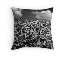 Woodpile Throw Pillow
