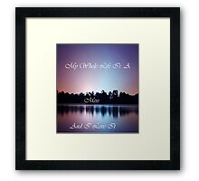 Life is A Mess Framed Print
