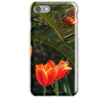 Red Tulips Under a Palmetto Tree iPhone Case/Skin